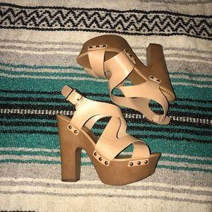 LIKE NEW Chunky Strappy Heels